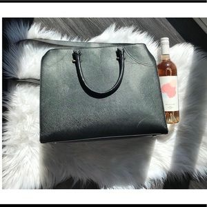 H&M large black tote bag